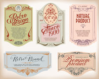 Vintage frame design for labels, banner, sticker and other desig Stock Images