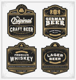 Vintage frame design for labels, banner, sticker and other design. Royalty Free Stock Photo