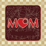 Vintage frame design for mother day. EPS 8 Stock Image