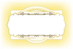 Vintage frame design for post card Stock Image