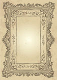 Vintage frame design (vector). Vintage design with antique frame engravings; scalable and editable vector illustration stock illustration