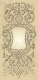 Vintage frame design (vector). Vintage design with antique frame engravings; scalable and editable vector illustration vector illustration