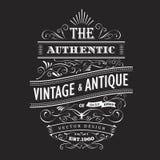 Vintage frame design western label blackboard typography border Royalty Free Stock Images