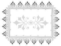 Vintage frame doodle in grey Stock Images