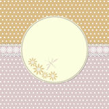 Vintage frame with dragonfly Royalty Free Stock Image