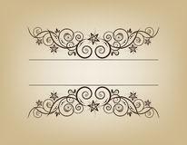 Vintage frame. Elegant. This image is a vector illustration and can be scaled to any size without loss of resolution. This image will download as a .eps file Royalty Free Stock Photos