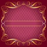 Vintage_Frame en fondo color de rosa de la oscuridad Fotos de archivo