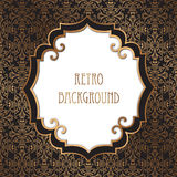 Vintage frame. Festive brocade retro background. Editable. Seaml Stock Photo