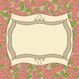 Vintage frame floral background Stock Photography