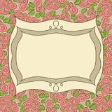 Vintage frame floral background Stock Photography