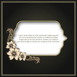 Vintage frame with floral decor Stock Photography