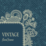 Vintage frame with floral decoration Royalty Free Stock Photo