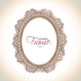 Vintage frame with floral decoration. Stock Images