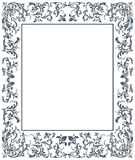 Vintage frame with floral elements. Vector image with floral ornament. Vintage frame Royalty Free Stock Image