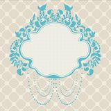 Vintage Frame floral label Royalty Free Stock Image