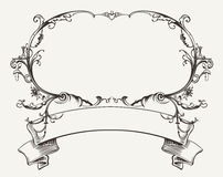 Vintage Frame With Floral Ornament Stock Images
