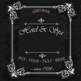 Vintage frame with floral ornament with black background. Vector illustration Royalty Free Stock Image