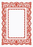 Vintage frame with floral pattern Royalty Free Stock Photography