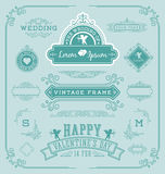 Vintage frame with flourishes calligraphic Royalty Free Stock Photo