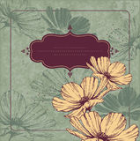 Vintage frame with flowering Cameos Stock Photography