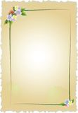 Vintage frame with flowers Royalty Free Stock Photography