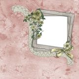 Vintage Frame with Flowers Royalty Free Stock Photo