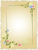 Vintage frame with flowers Stock Photos