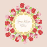 Vintage frame with flowers. Royalty Free Stock Image