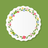 Vintage Frame with Flowers Vector Illustration Royalty Free Stock Photo