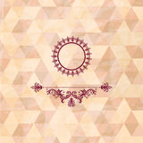 vintage frame on geometric background Stock Image