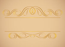 Vintage frame in gold. Stock Photo
