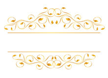 Vintage frame in gold royalty free stock images