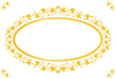 Vintage frame in gold vector illustration