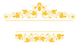 Vintage frame in gold. royalty free stock image