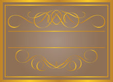 Vintage frame in gold. Royalty Free Stock Photo