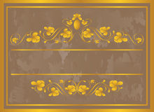 Vintage frame in gold. Royalty Free Stock Photos