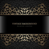 Vintage frame with gold borders Royalty Free Stock Image
