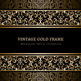 Vintage Frame with Gold Borders stock illustration