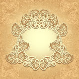 Vintage frame in gold color Stock Photo