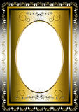 Vintage frame with gold and silver items Royalty Free Stock Photography
