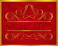 Vintage frame in gold. Vector Illustration Royalty Free Stock Photos