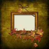 Vintage frame on grunge background Royalty Free Stock Images