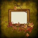 Vintage frame on grunge background Royalty Free Stock Images