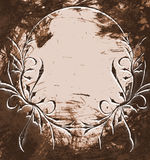 Vintage frame on the grunge dark background. Stock Images