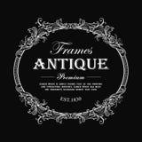 Vintage frame hand drawn antique engraving label banner vector. Illustration vector illustration