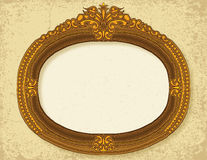Vintage Frame. Hand drawn golden vintage frame Royalty Free Stock Images