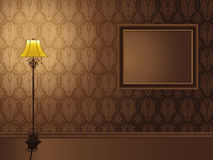 Vintage Frame hanging on wall Royalty Free Stock Photo