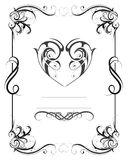 Vintage frame with heart shape Stock Photography