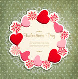 Vintage frame with hearts to Valentine's Day Royalty Free Stock Photography