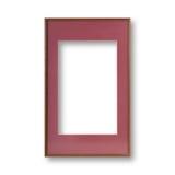 Vintage frame isolated on white background Stock Photo